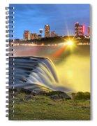 Silky Niagara Falls Panoramic Sunset Spiral Notebook