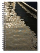 Silky Swirls And Zigzags - A Waterfront Abstract Spiral Notebook