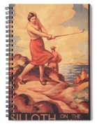 Silloth On The Solway, Advertisement Spiral Notebook