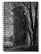 Silos - Black And White Spiral Notebook