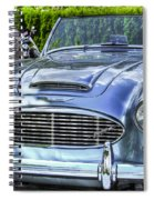 Silver 1963 Austin Healey Roadster 3000 Spiral Notebook