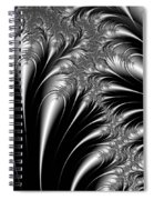 Silver And Black Abstract Spiral Notebook
