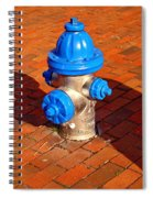 Silver And Blue Hydrant Spiral Notebook