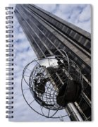 Silver And Blue Planet Earth Spiral Notebook