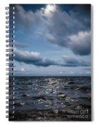 Silver Blue Moon Spiral Notebook