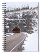 Silver Creek Cliff Tunnel Winter 1 Spiral Notebook