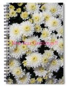 Silver Greetings Spiral Notebook