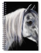 Grey Arabian Mare Painting Spiral Notebook