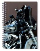 Silver Harley Motorcycle Spiral Notebook