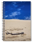 Silver Lake Dune With Dead Tree Branch And Cirrus Clouds Spiral Notebook