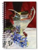 Silver Pitcher And Bluebonnet Spiral Notebook