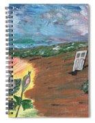 Silver Rose Spiral Notebook