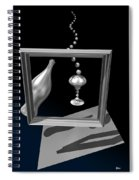 Silver Space Champagne Spiral Notebook