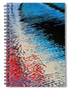 Silver Spirit Abstract Spiral Notebook