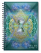 Silver Torquoise Chalicell Ring Flower Of Life Matrix II Spiral Notebook