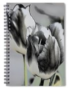 Silver Tulips Spiral Notebook