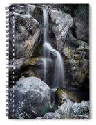 Silver Waterfall Spiral Notebook