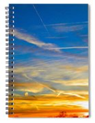Silver Wing Sunset Spiral Notebook