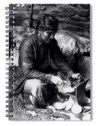 Silversmith At Work Spiral Notebook