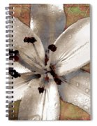 Silvery Asiatic Lily Spiral Notebook