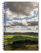 Simonside Hills From Rothbury Terraces Spiral Notebook
