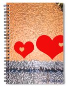Simple Geometry 2 - See-through Hearts Spiral Notebook