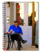 Simplement Dliche Cupcakes Et Ice Tea Bistro Rue St Denis Plateau Montreal Cafe Scene Carole Spandau Spiral Notebook