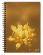Simplistic Yellow Clover Flower  Spiral Notebook