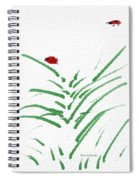 Simply Ladybugs And Grass Spiral Notebook