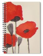 Simply Poppies 1 Spiral Notebook