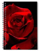 Simply Red Rose Spiral Notebook