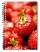 Simply Strawberries Spiral Notebook
