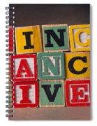 Sing Dance Live Spiral Notebook