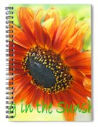Sing In The Sunshine Spiral Notebook