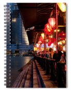 Singapore Boat Quay 03 Spiral Notebook