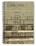 Singapore Cenotaph Monument Yearly Steps For World War Two Spiral Notebook