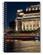 Singapore Fullerton Hotel At Night 02 Spiral Notebook