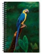 Singapore Macaw At Jurong Bird Park  Spiral Notebook