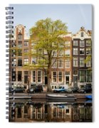 Singel Canal Houses In Amsterdam Spiral Notebook