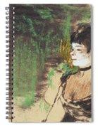 Singer In A Cafe Concert Spiral Notebook