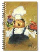 Singing Chef In Gold Spiral Notebook