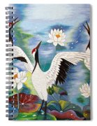 Singing In The Rain Hand Embroidery Spiral Notebook