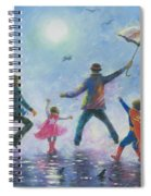 Singing In The Rain Super Hero Kids Spiral Notebook