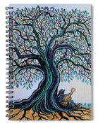 Singing Under The Blues Tree Spiral Notebook