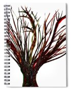 Single Bare Tree Isolated Spiral Notebook