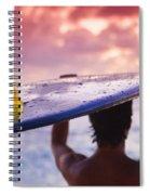 Single Fin Surfer Spiral Notebook