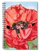 Single Oriential Poppy Spiral Notebook