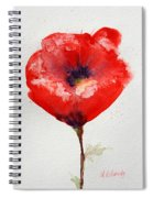 Single Red Anemone Spiral Notebook