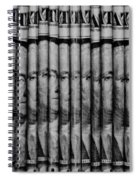 Singles In Black And White Spiral Notebook