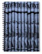 Singles In Cyan  Spiral Notebook